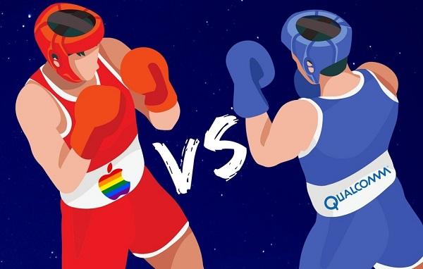 نزاع Qualcomm و Apple قد ينتهي في عام 2019