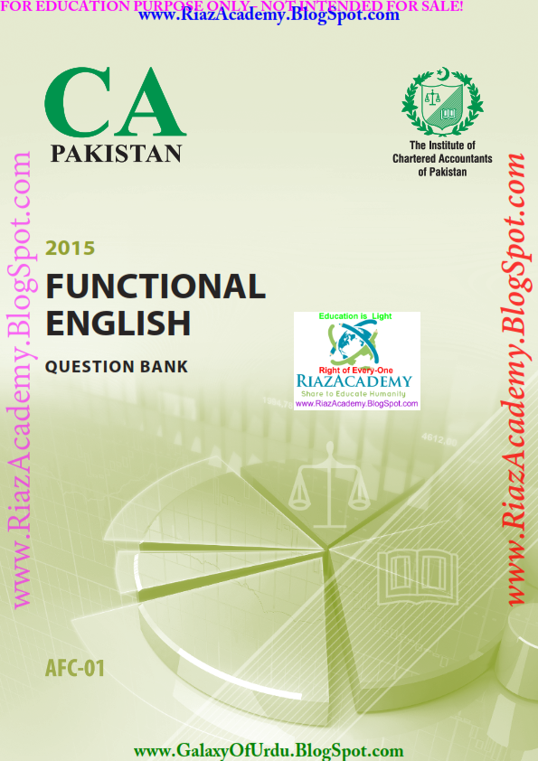 FUNCTIONAL ENGLISH - Question Bank by ICAP