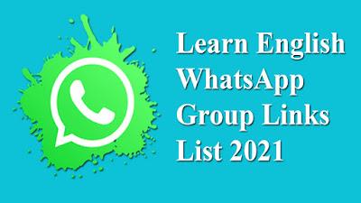 Learn English WhatsApp Group Links List 2021