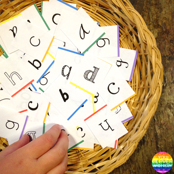 Learning The Alphabet - 20 Different Simple Hands-On Activities To Try At School or At Home | you clever monkey