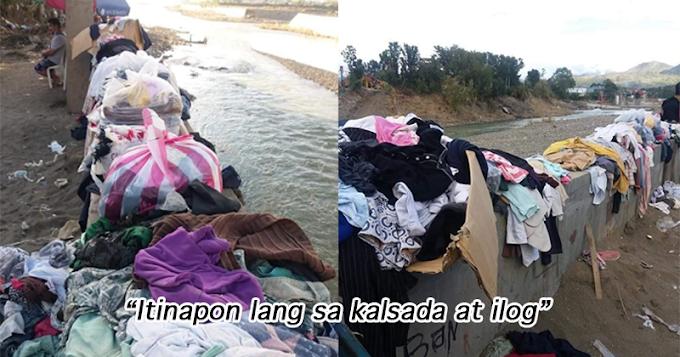 Mga donasyong damit para sa nasalanta ng bagy0ng Ulysses, itinapon lang sa ilog.