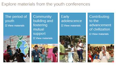 Конспекты материалов молодежных конференций на официальном сайте бахаи.