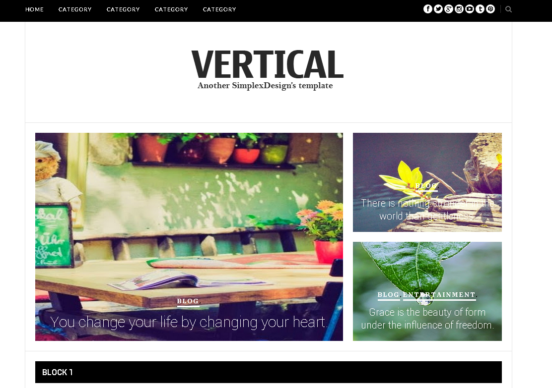 Simplex Vertical Blogger Template