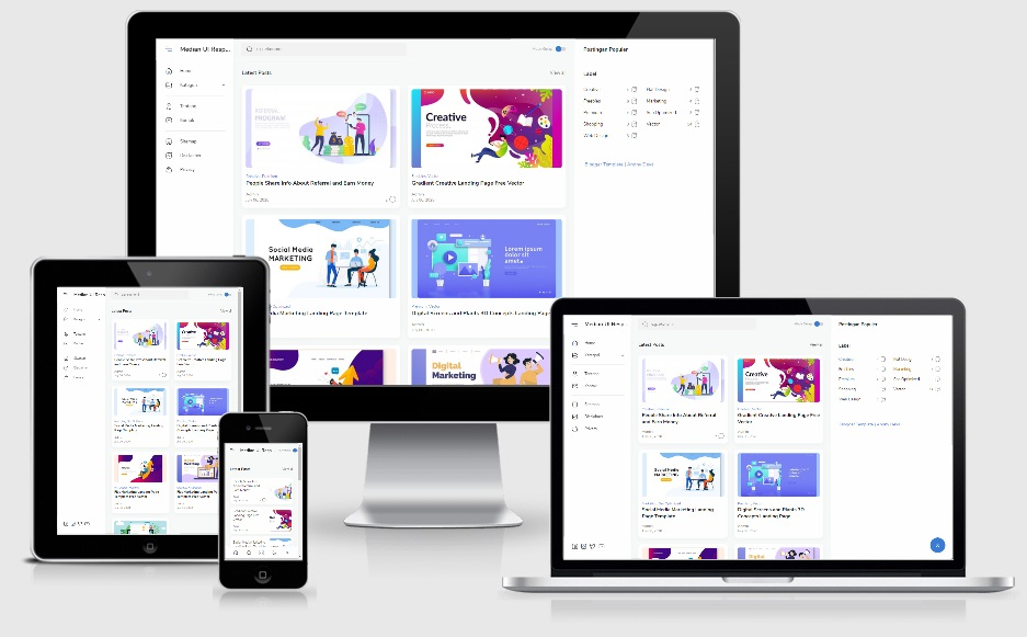 Median UI Responsive Blogger Template Premium