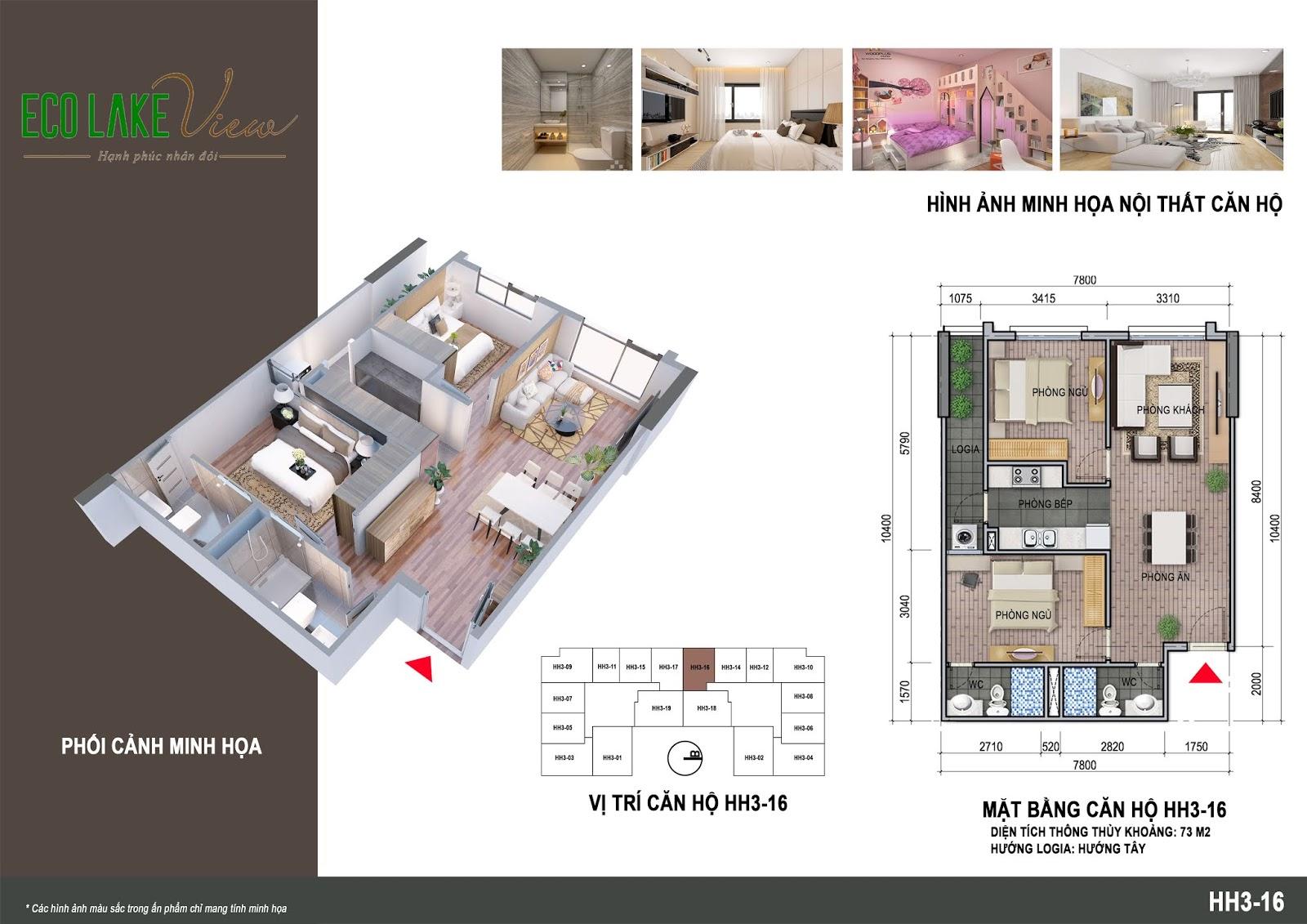 Thiết kế căn hộ 08 tòa HH03 Eco Lake View