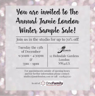 Jamie London Sample Sale December 2016 - Jewellery Sample Sale  - Jewellery Blog