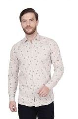 Cotton Slim Fit Printed Shirts For Men