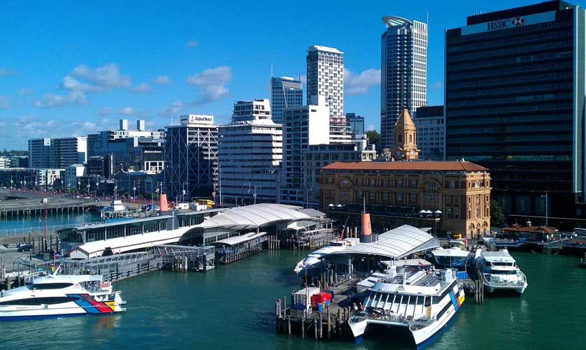 The ferry terminal is in Auckland's CBD.