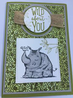 Card using Animal Outing stamps set . Stampin Up