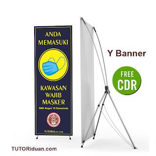 Free Desain Y Banner Wajib Pakai Masker