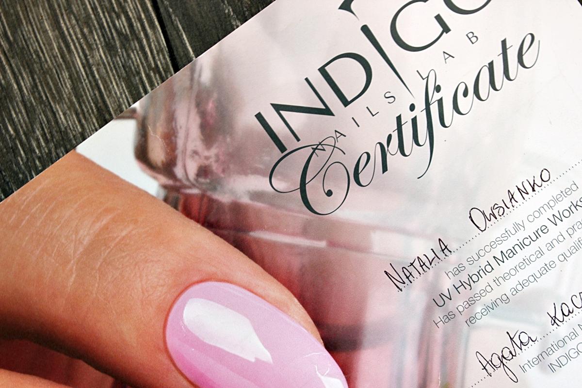 Indigo szkolenie manicure hybrydowy certyfikat