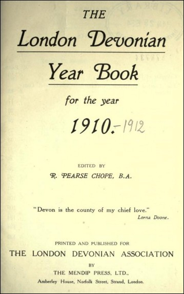 The London Devonian Year Book for the Year 1910