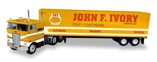 kenworth k100A 1:43 john f. ivory storage, camiones 1:43, camiones americanos 1:43, coleccion camiones americanos 1:43, camiones americanos 1:43 altaya españa