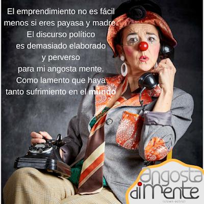 Payasa y actriz española, Angosta Di Mente, clown