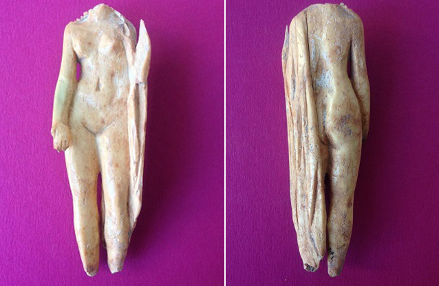 Small Roman Venus discovered at La Alcudia archaeological site in Valencia, Spain