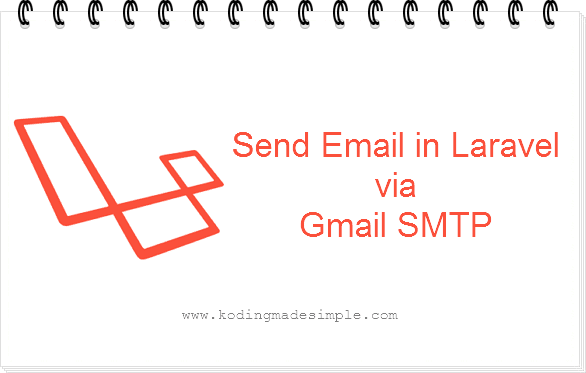 send email laravel gmail smtp server