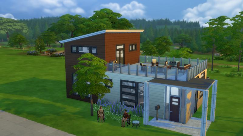 Los sims 4 de una a tres dimensiones for Casas modernas sims 4 paso a paso