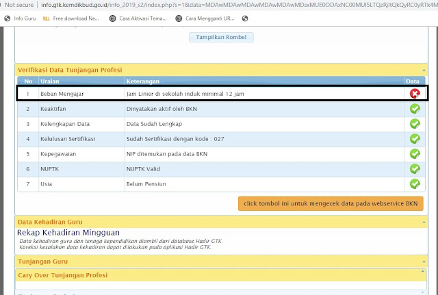Mudahnya Membuka Info GTK v.2019.1.1 Melalui Aplikasi Data Dikdasmen