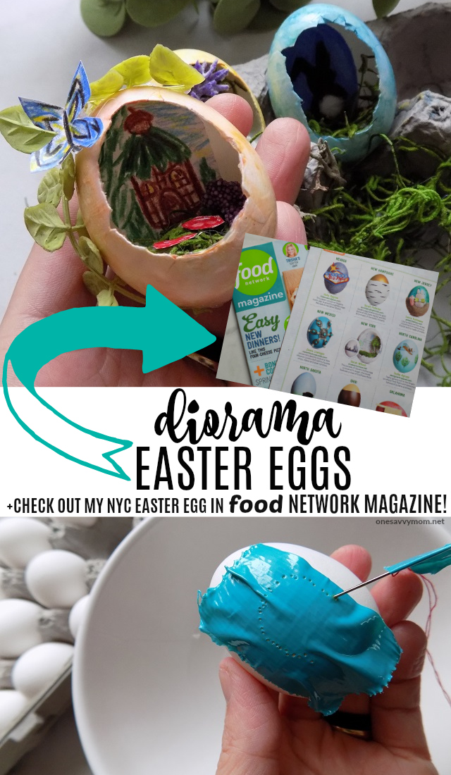 One savvy mom nyc area mom blog diorama easter eggs check out diorama easter eggs check out my nyc diorama easter egg in food network magazine forumfinder Images
