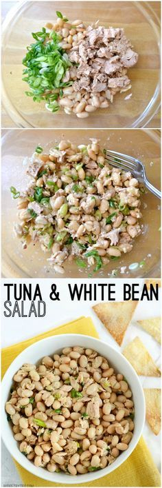 This Tuna and White Bean salad is mayo-free, but big on flavor. Whip up this salad in minutes to satisfy your hunger and tastebuds.