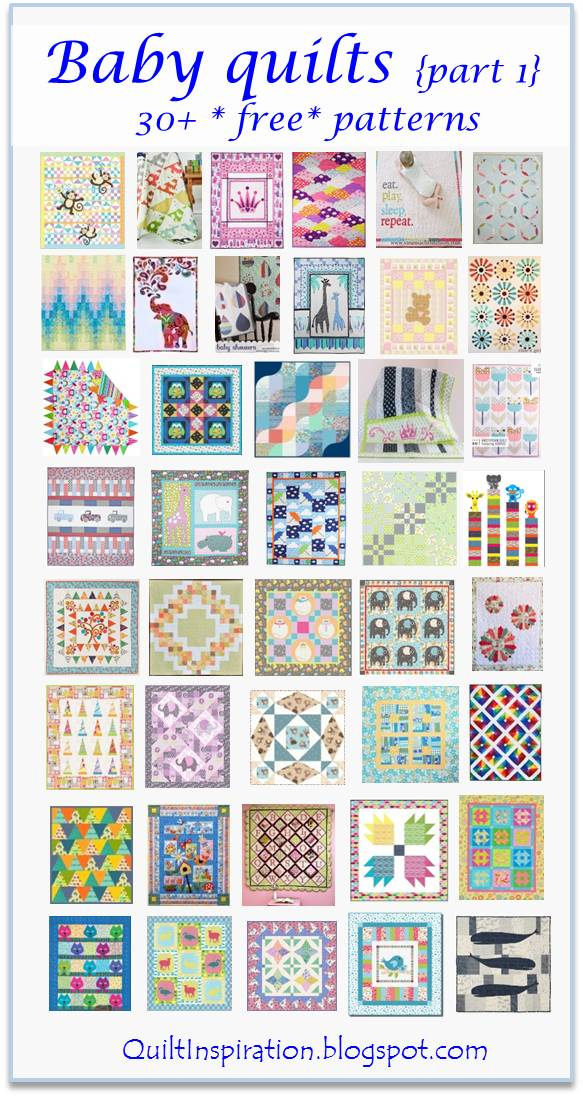 Quilt Inspiration: Free pattern day ! Baby quilts (part 1)