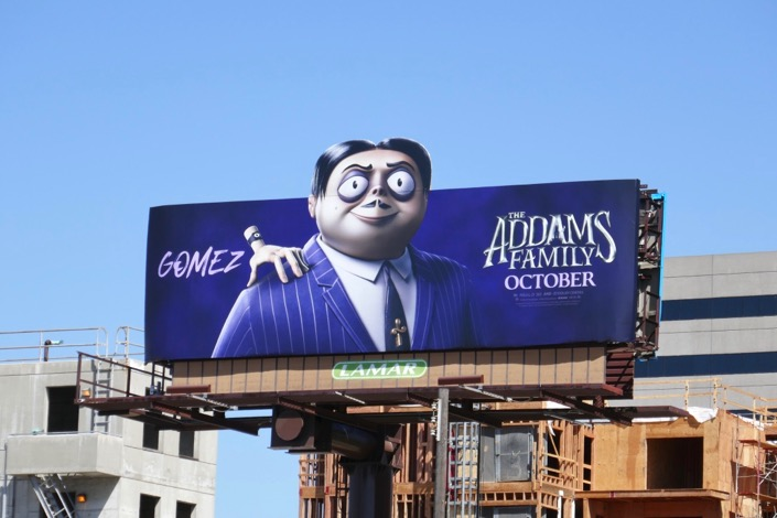 Addams Family Gomez billboard