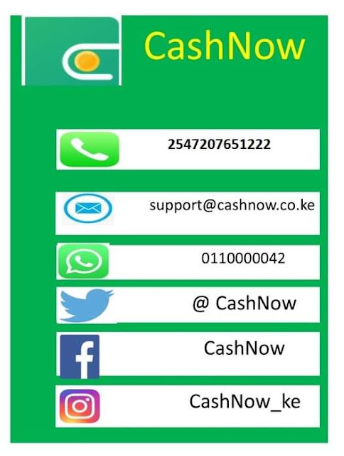 CashNow Contacts