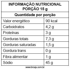 Informação Nutricional Porção 15g
