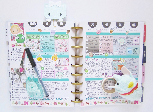 Woodland Creatures Theme Planner Spread
