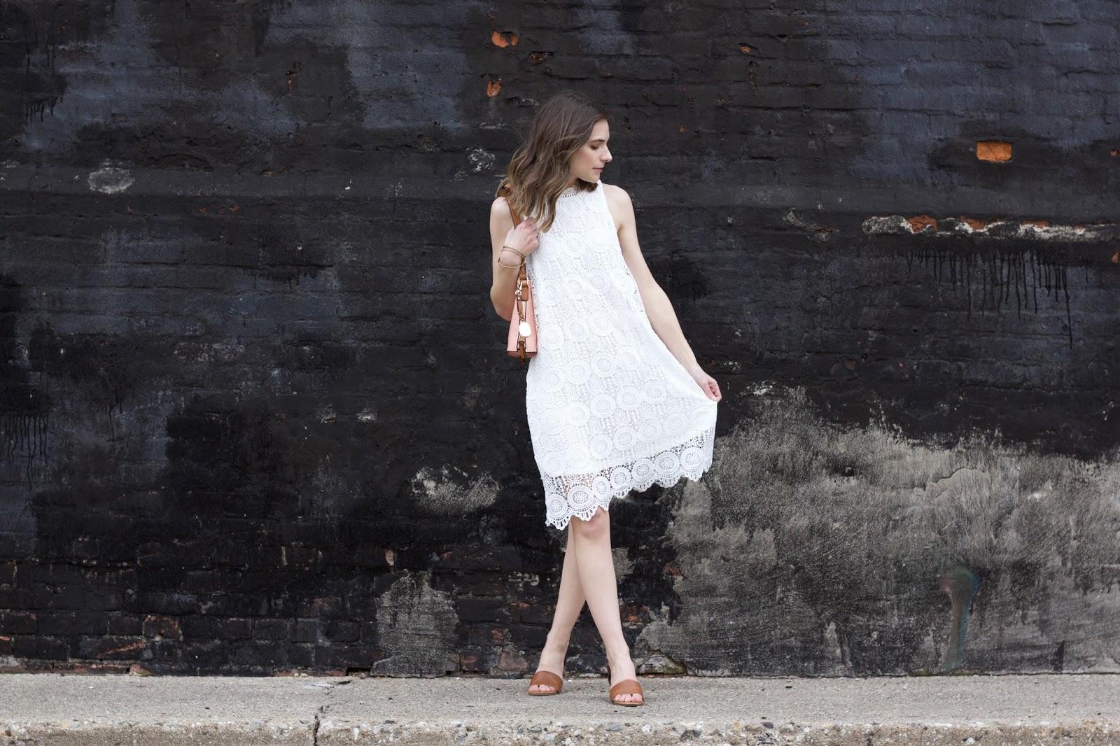 Prairie Gardens White Lace Dress