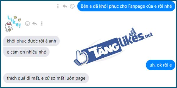 khoi phuc fanpage bi hack