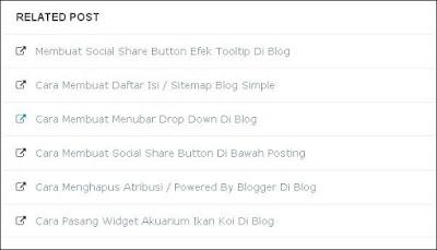 Cara Membuat Related Posts / Artikel Terkait Di Blog