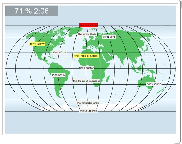 "World: ""Latitudes and longitudes"" (Juego de coordenadas geográficas)"