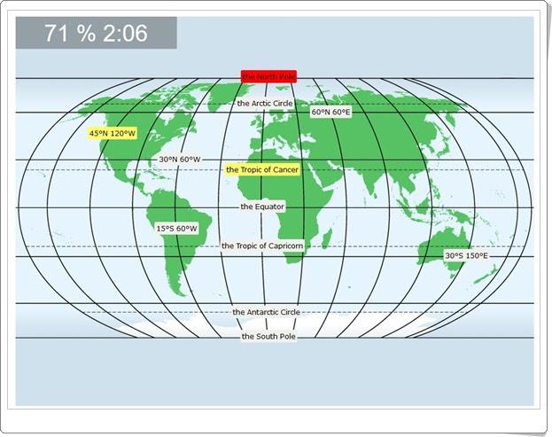 World Latitudes and longitudes Geografía de Primaria y Secundaria