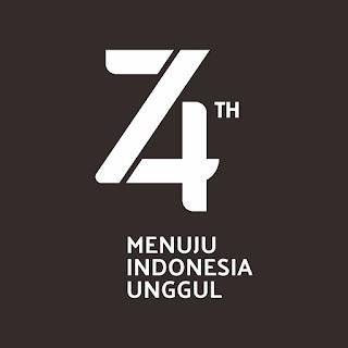 Logo Resmi Hut RI 74 - Tahun 2019 RESMI HITAM