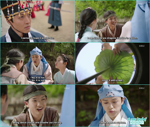 prince yeok, seo no and Chae Kyung did the ritual for rain - Seven Day Queen: Episode 3 korean Drama