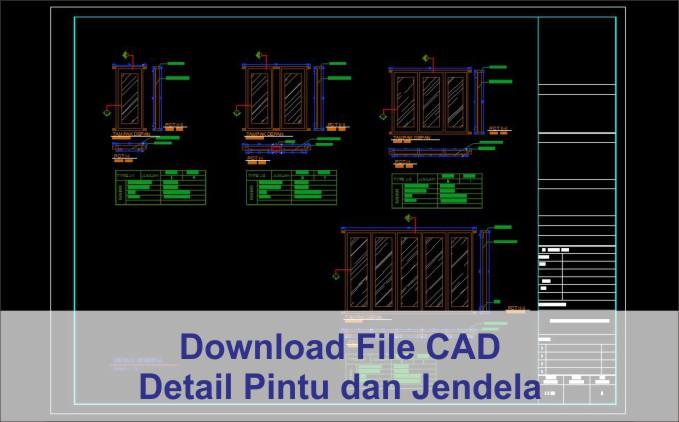 download Detail Pintu dan Jendela File Autocad
