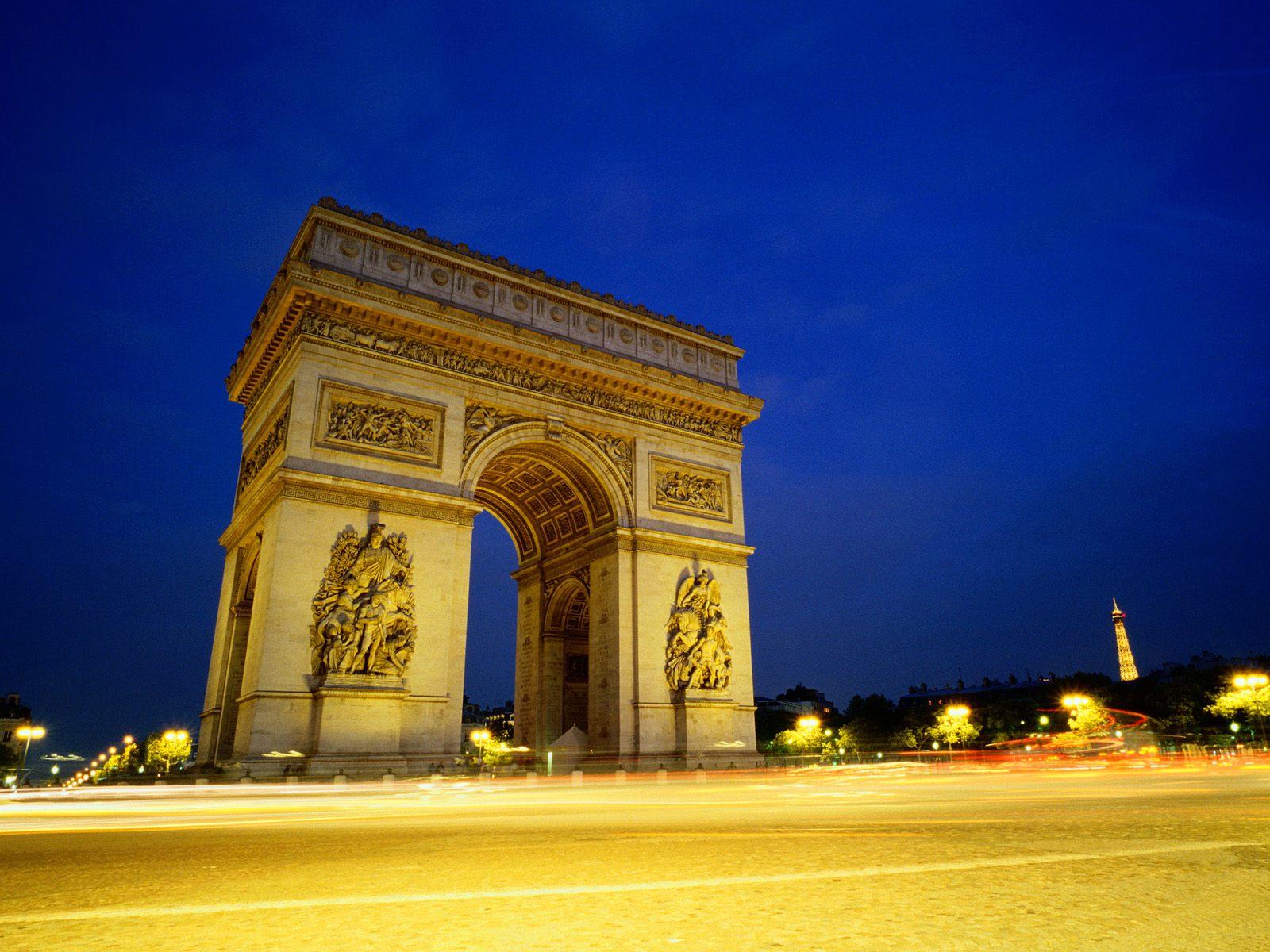 Arc De Triomphe Paris: Free Download Wallpaper