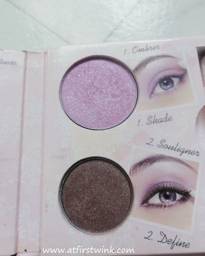 Bourjois Petit Guide de Style purple and brown eye shadow