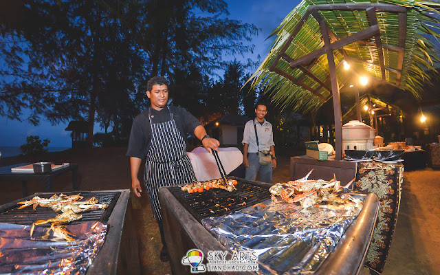 Fresh grilled seafood at Tanjong Jara Resort