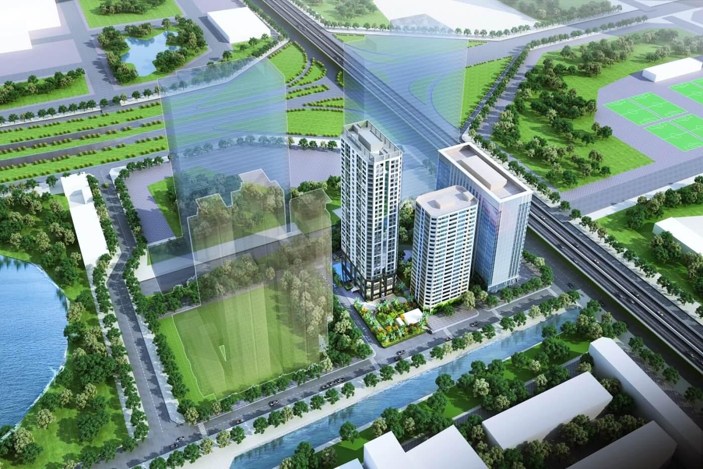 Phối cảnh dự án chung cư Vinata