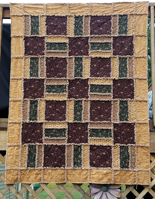 Algonquin Rag Quilt designed By Northcott Studio for Bear Creek Quilting Company