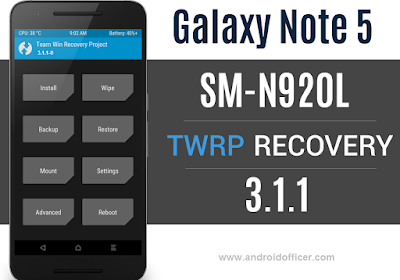 TWRP Recovery for Galaxy Note 5 SM-N920L