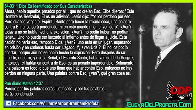 Cual es el pecado imperdonable - William Branham en Español