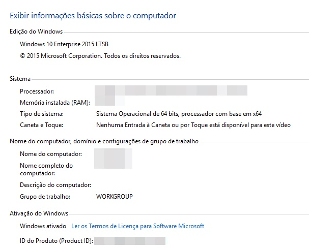 Windows 10 Enterprise em Português (LTSB - x64) (Download Completo)
