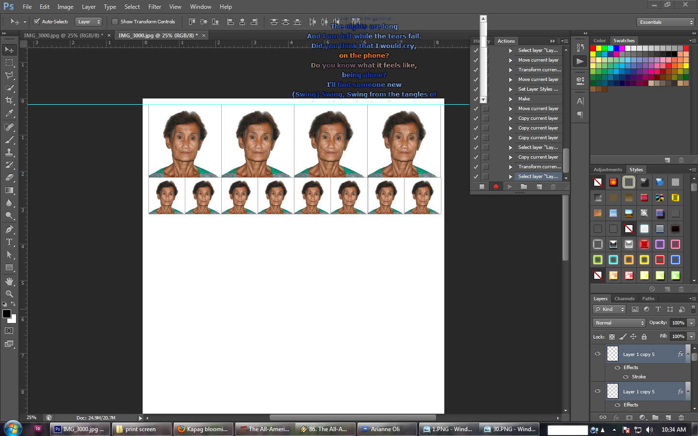 How To Make An Id Picture 2x2 1x1 In Adobe Photoshop Cs 6 For