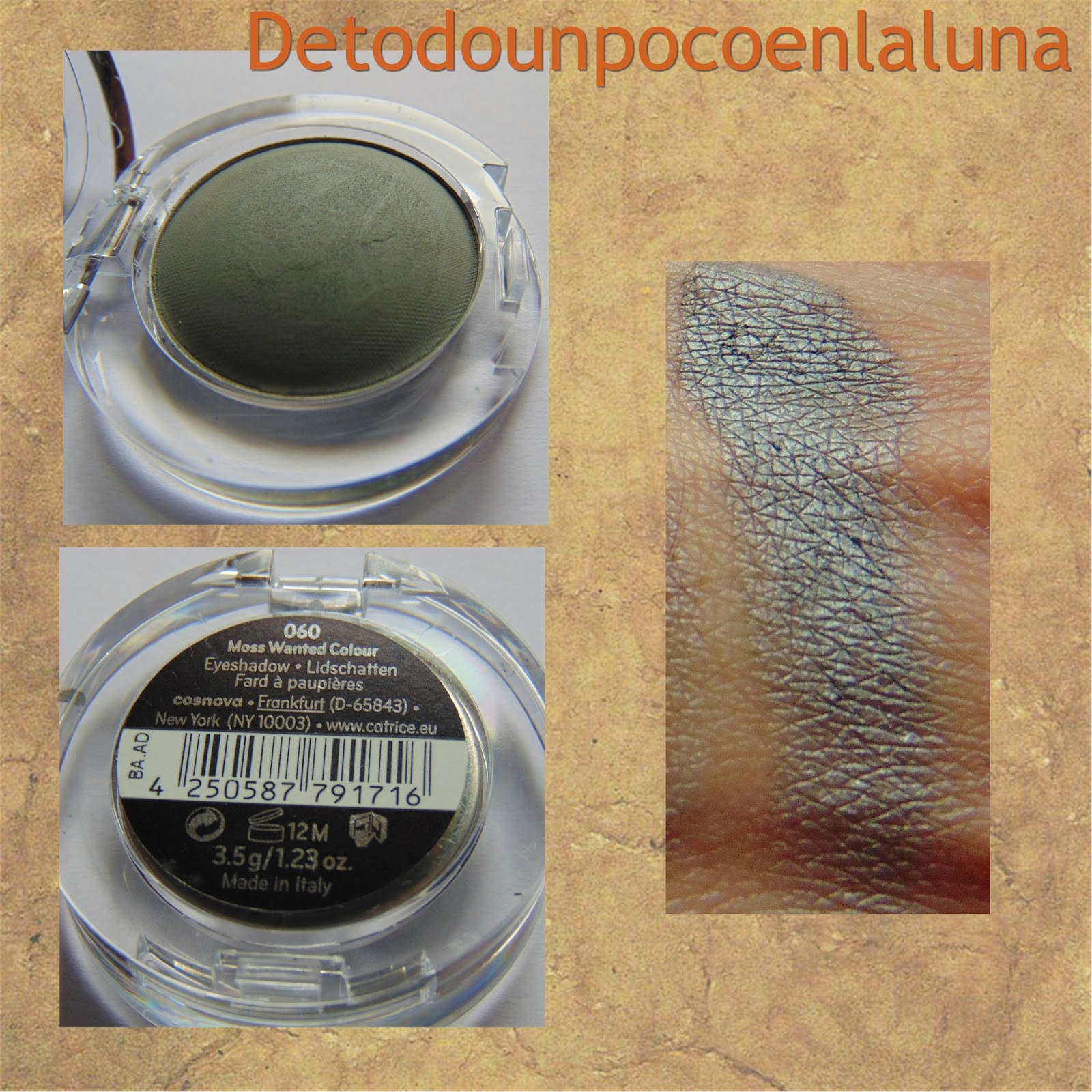 060 Moss Wanted Colour Sombras Velvet Matt Eyeshadow de Catrice