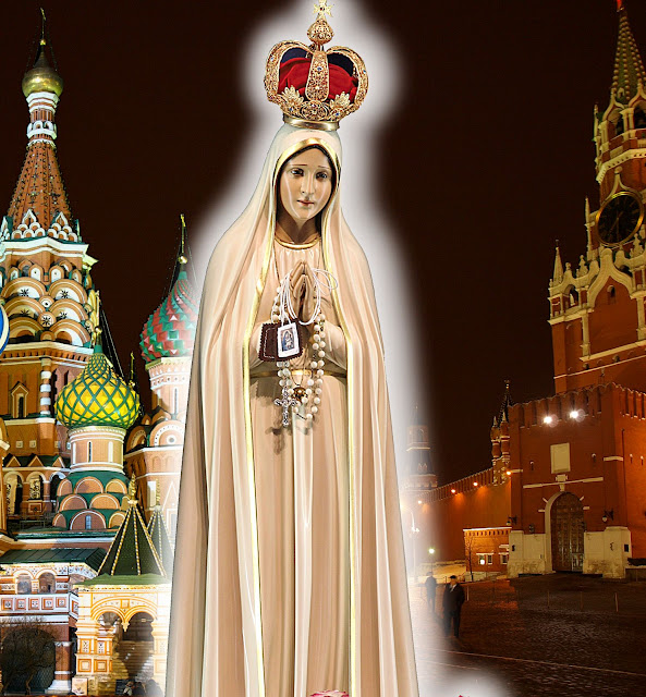 Nossa Senhora advertiu que a Rússia seria o flagelo para punir os homens. Mas, que no fim acabaria se convertendo e Ela acabaria triunfando.