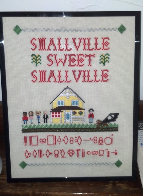Somebody Saaave Me: Smallville Cross Stitch Sampler
