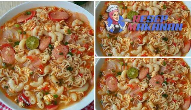 Cara membuat indomie seblak macaroni, resep indomi seblak macaroni